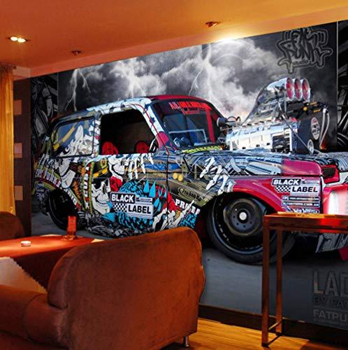 Benutzerdefinierte Irgendeine Größe Wandbild Tapete Moderne Kreative Black Label Auto Wandbild Restaurant Cafe Einstellung Zimmer Wand Hintergrund Wand Paper-350X250CM -
