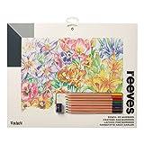 Reeves PPCR8 Malen nach Zahlen mit Buntstifte - Motiv: Blumen - 8 Stifte, 1 Spitzer - 30 x 40cm