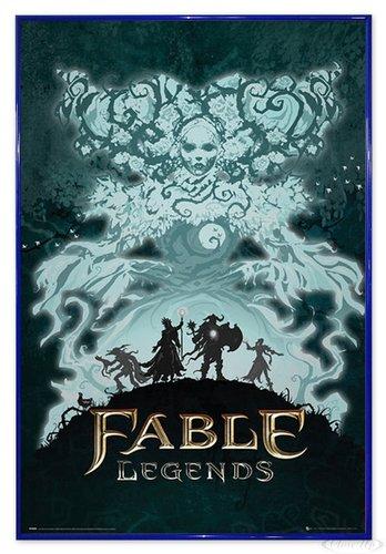 Close Up Fable Legends Poster White Lady (94x63,5 cm) gerahmt in: Rahmen blau
