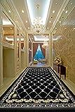 Alfombras De Pasillo, Alfombra Enrollable Alfombras Largas Tienda Completa Se Puede Cortar Escaleras De Alfombrilla Antideslizante Hotel (Ancho: 60 Cm),Black,5M