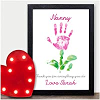 NANNY Helping Me Grow PERSONALISED Keepsake Print CHRISTMAS Gifts Xmas Presents - PERSONALISED with ANY NAME and ANY RECIPIENT - Black or White Framed A5, A4, A3 Prints or 18mm Wooden Blocks