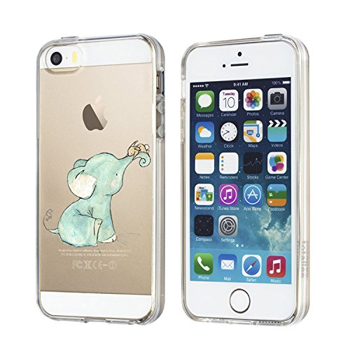 iPhone 5 5s hülle Schutzhülle Clear Case Cover Bumper Anti-Scratch TPU Silikon Handyhülle für iPhone SE 1