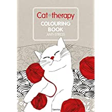 Cat therapy. Colouring book anti-stress