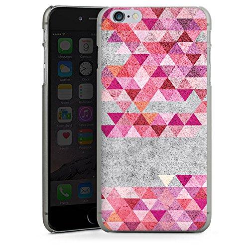 Apple iPhone X Silikon Hülle Case Schutzhülle Dreiecke Hipster Muster Hard Case anthrazit-klar