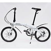 Bayes – Bicicleta plegable de aluminio Shimano, de 20 pulgadas con 8 velocidades, con