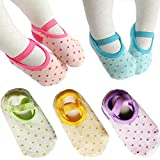5 pares de calcetines antideslizantes para 8-36 meses bebé niña Mary Jane Calcetines sin etiqueta Calcetines de tobillo Calcetines Footsocks Sneakers
