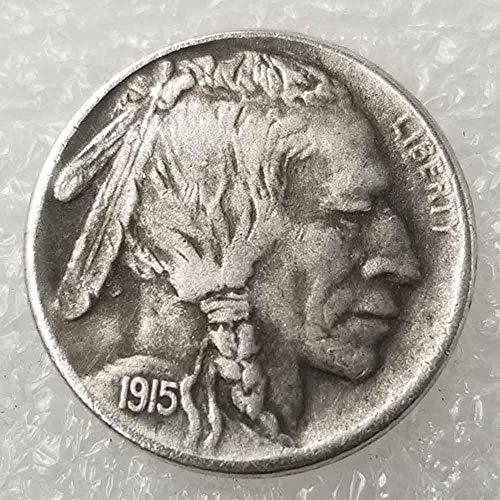 YunBest Best Morgan Silber-Dollars - Hobo Nickel Münze - 1915 Münze zum Sammeln - Silber-Dollar USA Old Morgan Dollar BestShop -