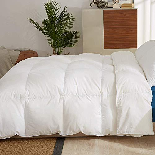 Bianco Singolo 135x200cm Trapuntato Design puredown/® 4 Stagioni Piumino Riempi DOca e Piuma