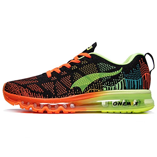 onemix Schuhe Männer Herren Laufschuhe - 3D Knit Air Max Flyknit Leichtgewicht für Walking Gym Jogging Fitness Athletic Outdoor Sport Trainer Sneaker - HYGL 44