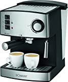 Bomann es 1185CB–Cafetera espresso, acero inoxidable, presión de vapor...