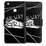 DeinDesign Huawei P9 Lite (2016) Tasche Leder Flip Case Hülle Galway Girl Ed Sheeran Girl