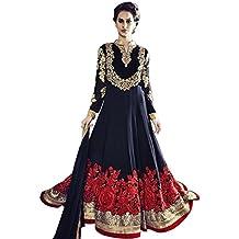 Bollywood vestido Anarkali traje de shalwar indio musulmán Mujeres Novia Boda