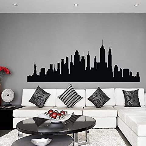 Vinyl New York Wall Sticker New York City Decal New York Skyline Wall Decor Wall Mural Wall Graphic Living Room Wall Decor Black by WallsUp