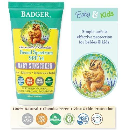 Badger Balm Protector solar para bebé SPF 30, 87ml