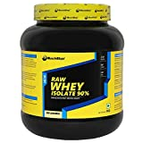 MuscleBlaze Raw Whey Isolate (2.2 lb), 1 kg Unflavoured