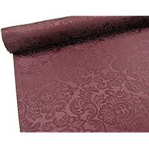 Confección Saymi - Metraje 0,50 mts. tejido Raso Ref. Damasco, color Tinto, con ancho 2,80 mts.