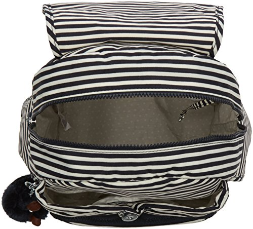 Kipling - City Pack, Zaini Donna Multicolore (Marine Stripy)