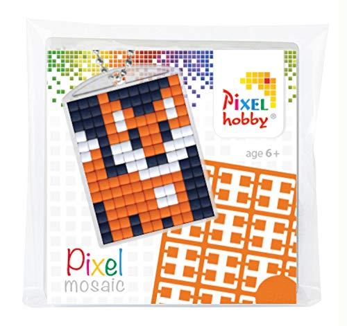 by P23001 - Pixel Set Medaillon Fuchs, Schlüsselring, Anhänger, für Kinder, Jungen und Mädchen, ideal als kleines Geschenk, Mitgebsel, für den Kindergeburtstag ()