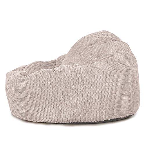 Lounge Pug®, Puff Pera 'Mini-Mamut', Pompón - Crema
