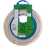 Profiplast PRP522751 Couronne de câble 25 m ho3vhh 2 x 0,75 mm Blanc