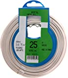 Profiplast PRP522751 - Rollo de cable (25 m, 03VH-H, 2 x 0,75 mm²), color blanco
