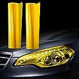 JZK 30cm x 200cm Amarillo vinilo film faro luz pegatina adhesivo para coche motocicleta camión faros niebla mparas de cola ligero