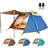 ZOMAKE Tente De Camping 2 Personnes,4 Saisons Tente Imperméable - Ultra légère (Lac Bleu)