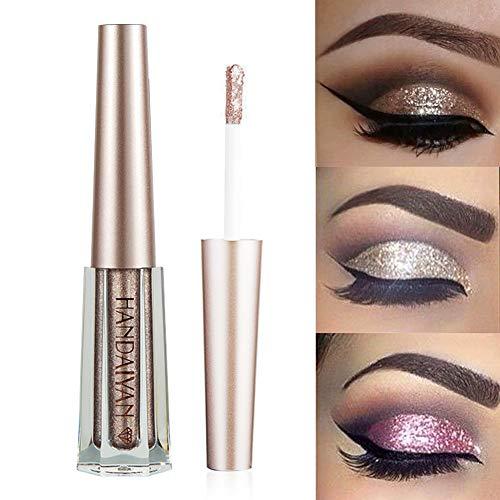 GL-Turelifes Fard à paupières et stylo eyeliner liquides à paillettes de diamant (# 10 Café)