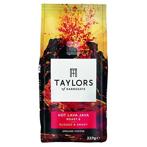 Taylors of Harrogate Hot Lava Java Extreme Roast Ground Coffee 227g (Pack of 3)