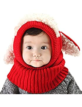 ZZLAY Lovely Baby Winter Hut Schal Earflap Hood Schals Schädel Caps Warm Knit Face Cover Balaclava