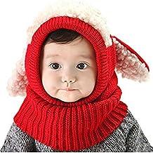 ZZLAY Belle bébé chapeau d hiver écharpe earflap capuche écharpes crâne  casquettes chaudes tricot couverture 1bc44667022