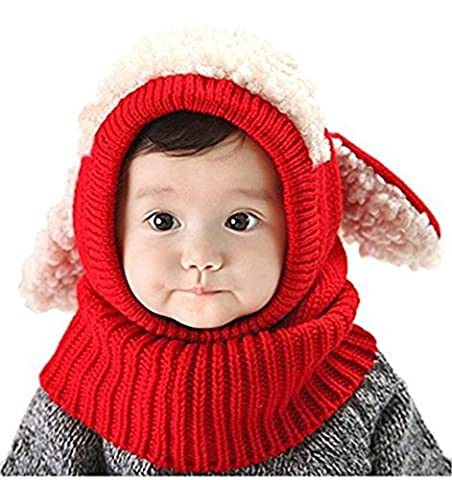 ZZLAY Lovely Baby Winter Hut Schal Earflap Hood Schals Schädel Caps Warm Knit Face Cover Balaclava (Earflap Knit Cap)