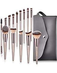 Lot de 14 pinceaux de maquillage BESTOPE synthétiques de qualité supérieure pour fond de teint, kabuki, blush, correcteur, fard à paupières.
