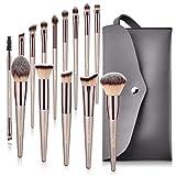 Lot de 14 pinceaux de maquillage BESTOPE synthétiques de qualité supérieure pour...