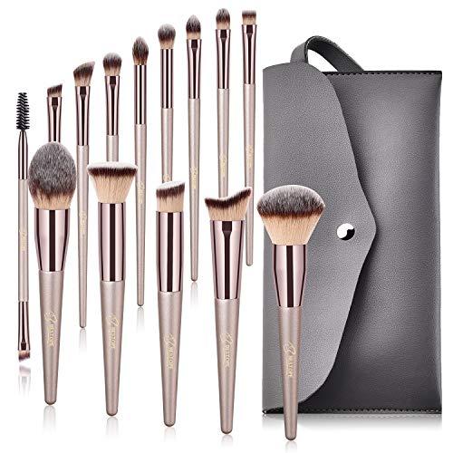 BESTOPE 14 Stück Make Up Pinsel Set Professionelles Schminkpinsel Kosmetikpinsel Pinselset kosmetik...
