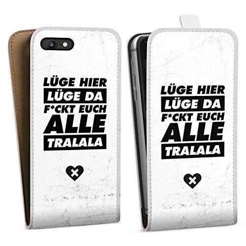 Apple iPhone X Silikon Hülle Case Schutzhülle Lügen Leben Sprüche Downflip Tasche weiß