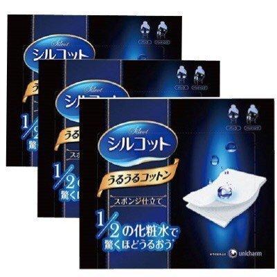 unicharm-silcot-uruuru-sponge-facial-cotton-40-sheets-3-packs-3-by-unicharm