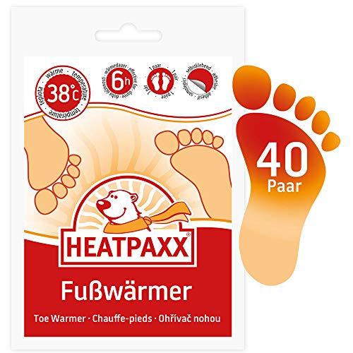 HeatPaxx Fußwärmer - Hauchdünne Zehenwärmer für unterwegs - endlich Wieder warme Füße - 40 x 2 Wärmepads im praktischen Vorteilspack