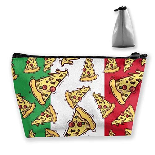 Pizza-Scheiben-Italien-Flaggen-italienisches Lebensmittel bilden Beutel-Kulturbeutel-Taschen-Kosmetik-Beutel