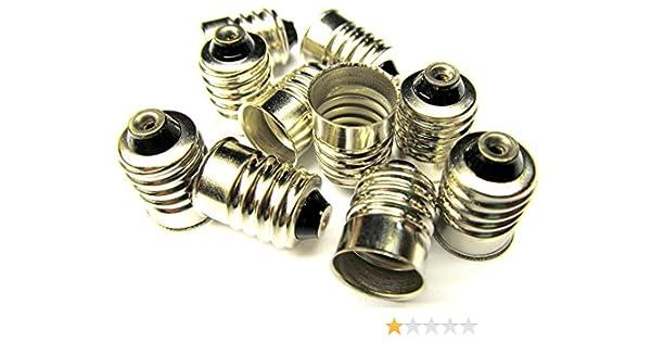 E10 Screw Base 10 Pack Car LED Light Lamp Bulb Socket Base Adapter 50,52,222