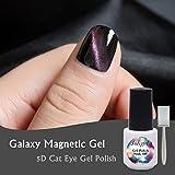 joligel magnetisch Galaxy Gel Nagellack 2018Cat Eye 5D-Farbverlauf Laser Effekt Shellac Semi-Permanent UV LED Nagellack für die Maniküre, Trial Flasche 5ml (mit Magnet)