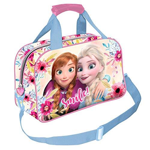 Karactermania Frozen Smile-borsa Sportiva Kinder-Sporttasche 38 Centimeters Mehrfarbig (Multicolour)