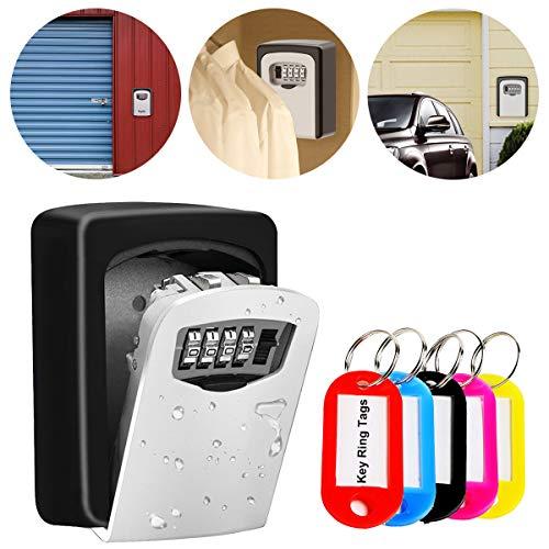 Lambony Caja Fuerte para Llaves, Caja de Seguridad Combinación de 4 Dígitos,...