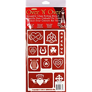 Armour Products Over ' N' Over Reusable Stencils 5 x 8-inch, Multicoloured, 29.84 x 14.6 x 0.1 cm