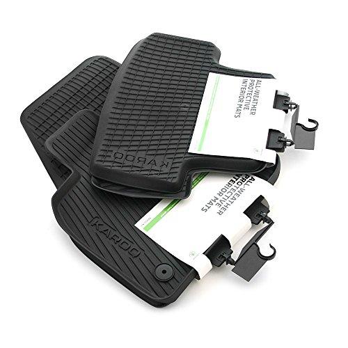 Preisvergleich Produktbild Skoda 57B061502 57A061512 Gummi Fußmatten 4x Gummimatten schwarz Original Allwettermatten mit Schriftzug
