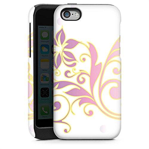 Apple iPhone 4 Housse Étui Silicone Coque Protection Motif floral Ornements Floral Cas Tough brillant