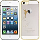 kwmobile Elegant and light weight Crystal Case Design fairy for Apple iPhone SE / 5 / 5S in gold transparent