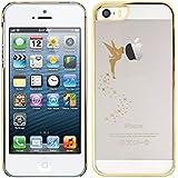 kwmobile Elegante e leggera custodia Crystal Case Disegno fata per Apple iPhone 5 / 5S in Oro Trasparente