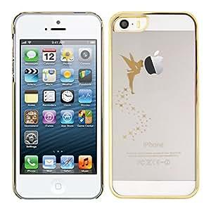 kwmobile Crystal Case Hülle für Apple iPhone SE / 5 / 5S mit Fee Design - transparente Schutzhülle Cover klar in Gold Transparent