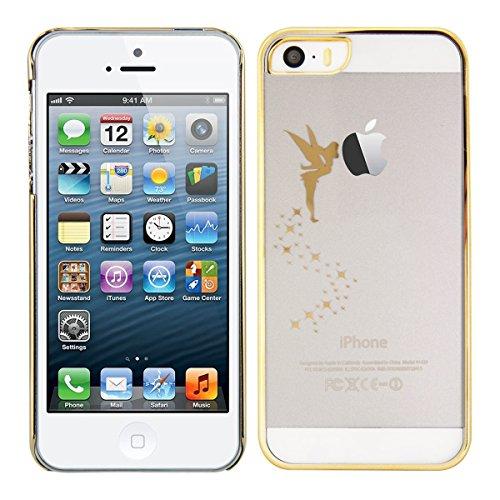 kwmobile Hülle für Apple iPhone SE / 5 / 5S - Backcover Case Handy Schutzhülle - Cover klar Fee Design Gold Transparent Fee Gold Transparent